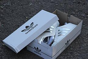 Кроссовки женские Adidas Superstar  белые с серебром, фото 3