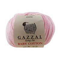 Пряжа Gazzal Baby Cotton Розовый