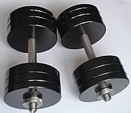Гантели 2 по 26 кг с покрытием. 25 мм