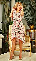 Летнее платье-рубашка в цветы
