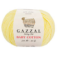 Пряжа Gazzal Baby Cotton Желтый