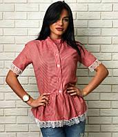 Женская блузка рубашка Рюши