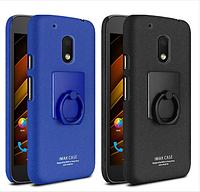 Пластиковый чехол Imak с кольцом-подставкой для Motorola Moto G4  (2 цвета)