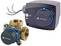 """Поворотный трехходовой клапан Afriso ARV 1"""" + электропривод ARM"""