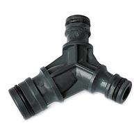 Тройник для соединения шлангов 5603: коннектор стандартный/Jet, прочный пластик, чёрный, 25 шт.