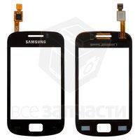 Тачскрин (сенсор) для мобильного телефона Samsung S6500 Galaxy Mini 2, черный