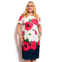 Женское платье большого размера с цветами