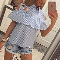 Блузка с вышивкой коттон - МБ1583