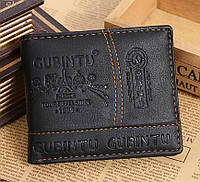 Мужской кошелек черный Gubintu