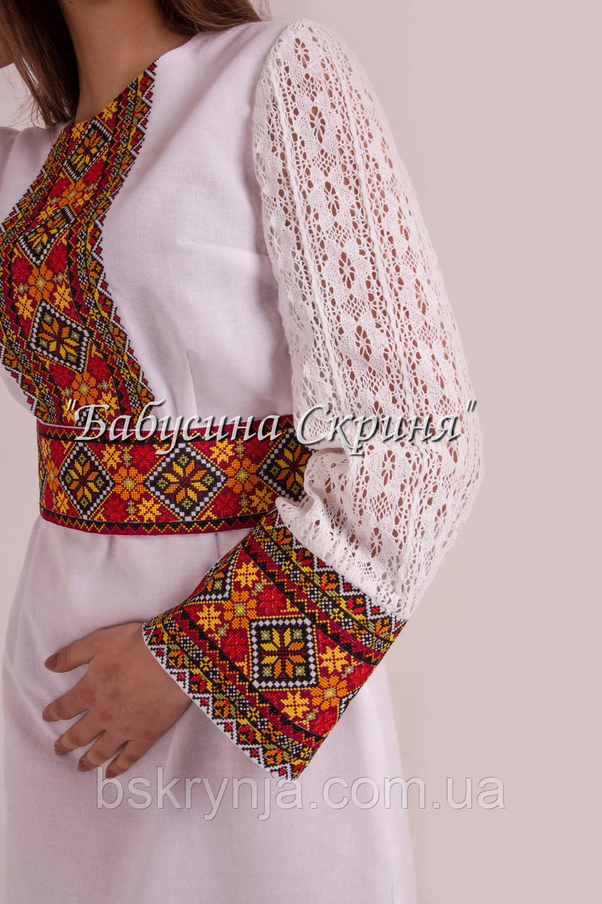 ... Заготовка жіночої сукні для вишивки нитками бісером БС-122с 2c666d709fc93