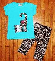 Детский костюм для девочки Кошечка бирюза 1-2 лет, фото 1