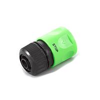 Коннектор с аквастопом ½ 4110 для поливочного шланга, диаметр 12,0 мм, в упаковке 30 штук