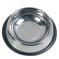 Миска Karlie-Flamingo Inox Cat Dish для кошек, 10х3.5 см