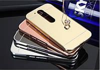 Металлический зеркальный чехол Mirror бампер для Motorola Moto G4 Plus (4 цвета в наличии)