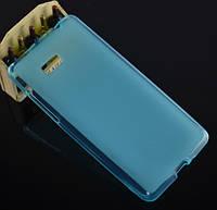 Силиконовый чехол накладка для HTC One 801e (M7) Blue