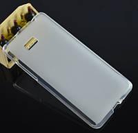 Силиконовый чехол накладка для HTC One (M8) White