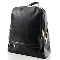 Черный кожаный рюкзак женский 9017