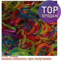 Резинки для плетения Loom Bands, микс цветов сердечки 200 шт. /  Резинки для плетения браслетов