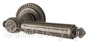 Ручка дверная на розетке Armadillo Matador античное серебро (Китай)
