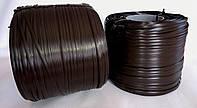 """Штучний ротанг для виготовлення садових меблів """"АУРА"""" темно-коричневий 8*1,3мм бухтами по 5 кг"""