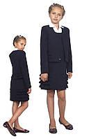 Жакет школьный для девочки м-1009 рост 116 синий, фото 1