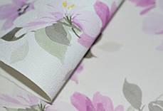 Обои на стену, винил на флизелине, цветы сиреневый, 1,06*10м, ограниченное количество, фото 2