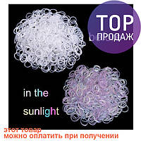 Резинки для плетения ультрафиолетовые Loom Bands, хамелеон микс цветов 200 шт / Резинки для плетения браслетов