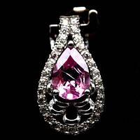 Топаз розовый, серебро 925, кулон, 411КЛТ