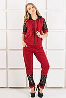 Женский спортивный костюм Рошаль цвет бордо размер 44-54