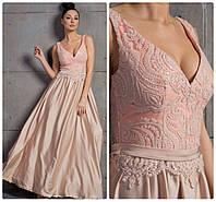 Вечернее платье в пол с пайетками, фото 1