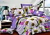 Двуспальный комплект постельного белья 180*220 сатин (7303) TM KRISPOL Украина