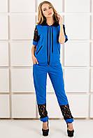Женский спортивный костюм Рошаль цвет бирюза размер 44-54