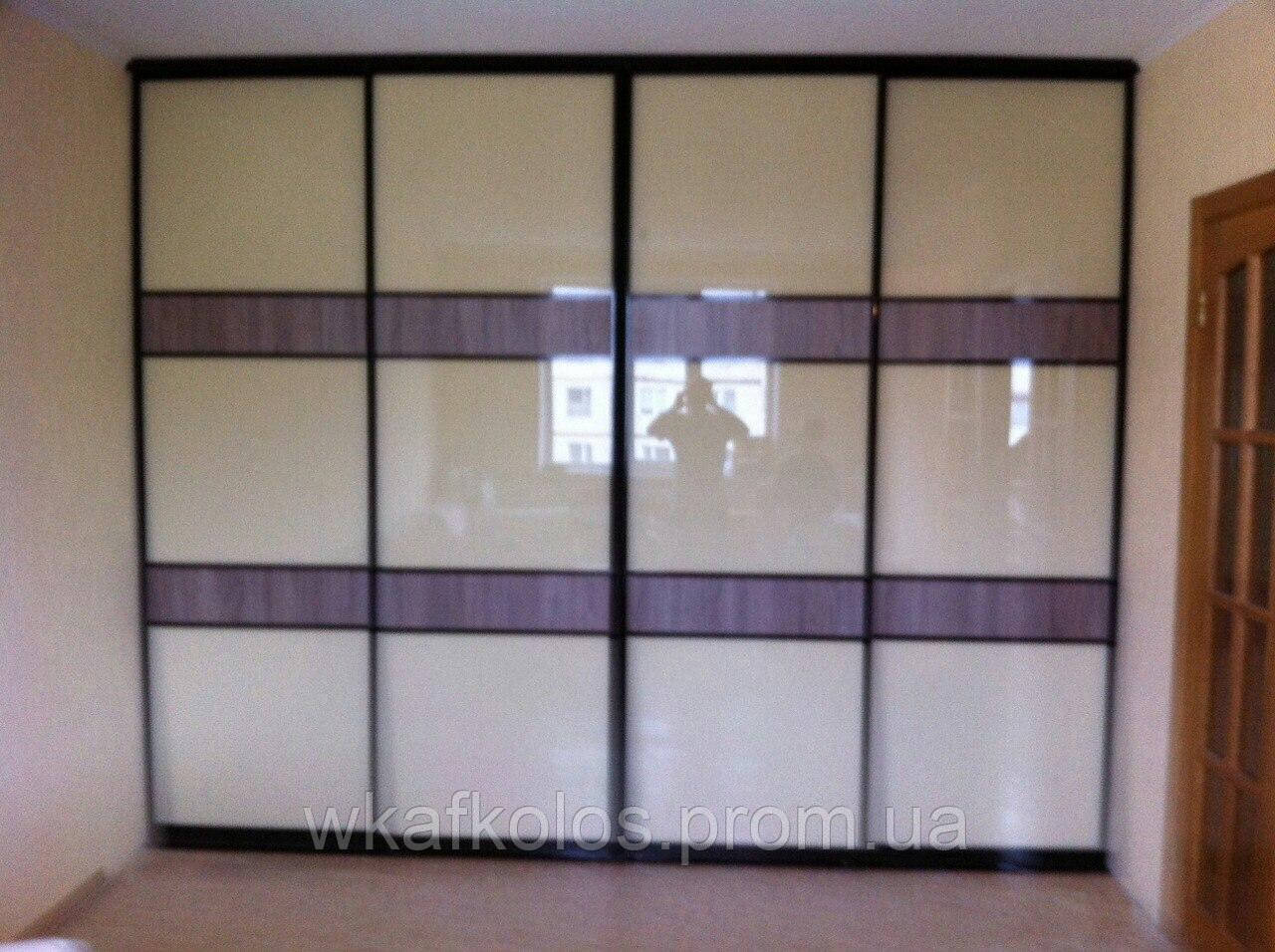 фото шкаф-купе со стеклом