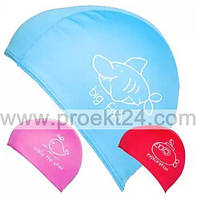 Шапочка для плавания детская тканевая