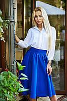 Женская юбка Синичка электрик р.М