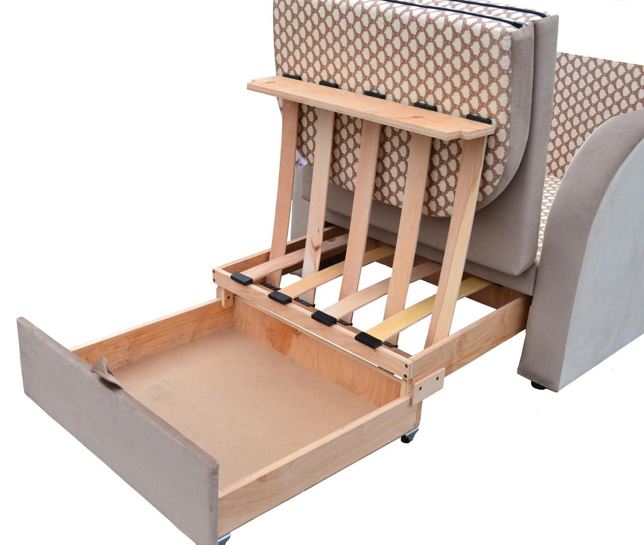 раскладное кресло кровать с ящиком для белья жером купить по