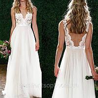 Пышное Свадебное Платье А-силуэт V-вырез