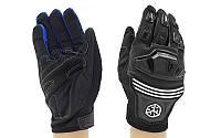 Мотоперчатки текстильні з закритими пальцями і протектором Scoyco МС24-BK: розмір M-XL, фото 1