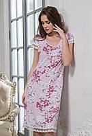 Длинная сорочка Mia-Mella SAKURA / Сакура 6448 большие размеры