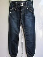 Модные джинсы с манжетами внизу для девочек