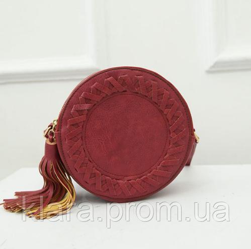 722f1b87d2ac Красная женская сумка, круглой формы, летний вариант - Интернет-магазин