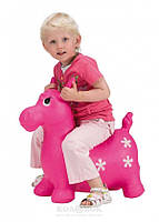 Детский прыгун Цветочный пони розовый