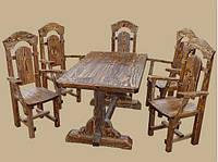 Стол 1.6м из натурального дерева из комплекта Боярыня, фото 1
