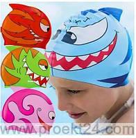 Шапочка для плавания детская силиконовая