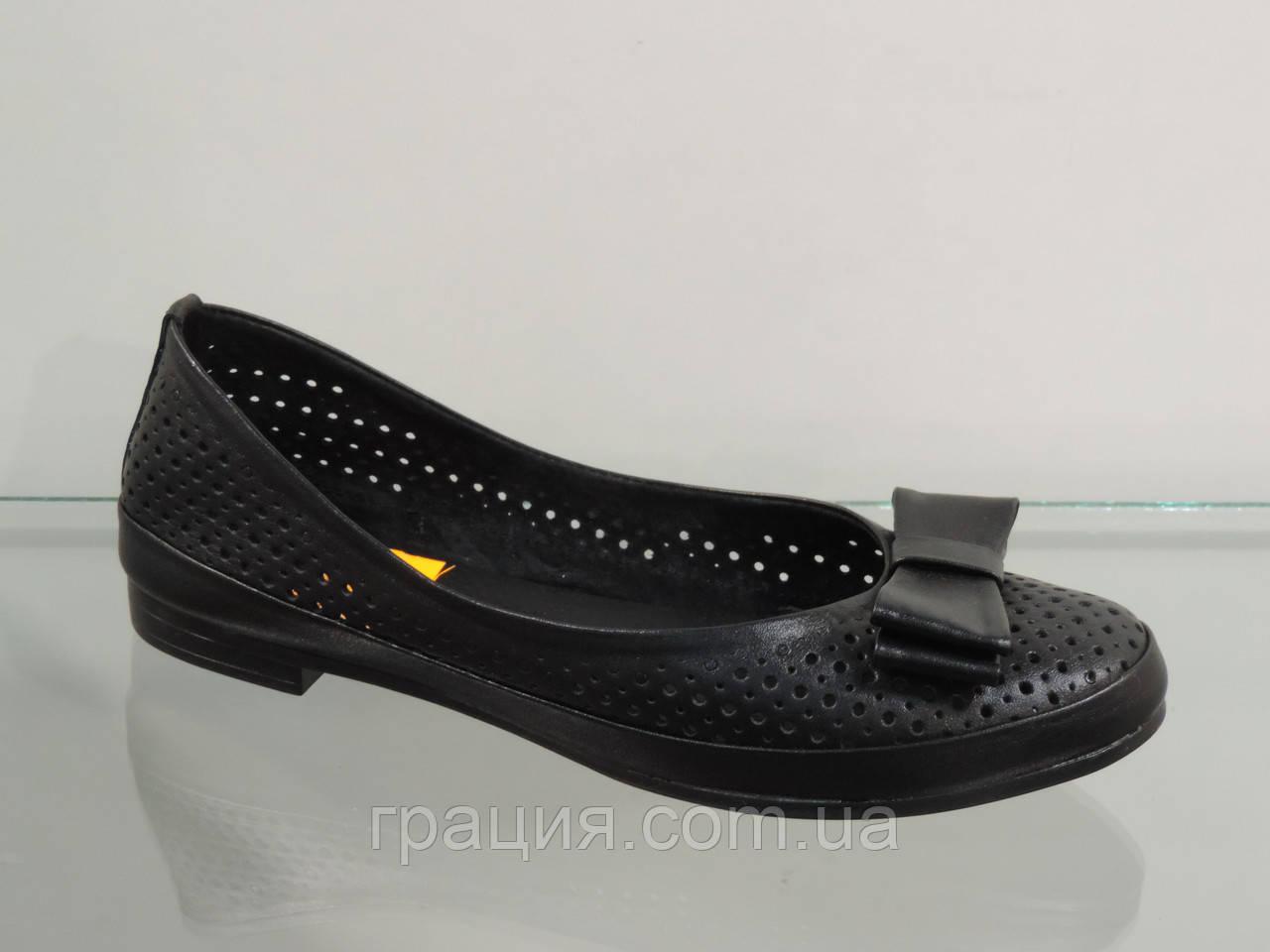 Туфли женские кожаные мягкие с перфорацией