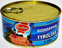 Курино-свинная консерва EvraMeat Tyrolska 300h.