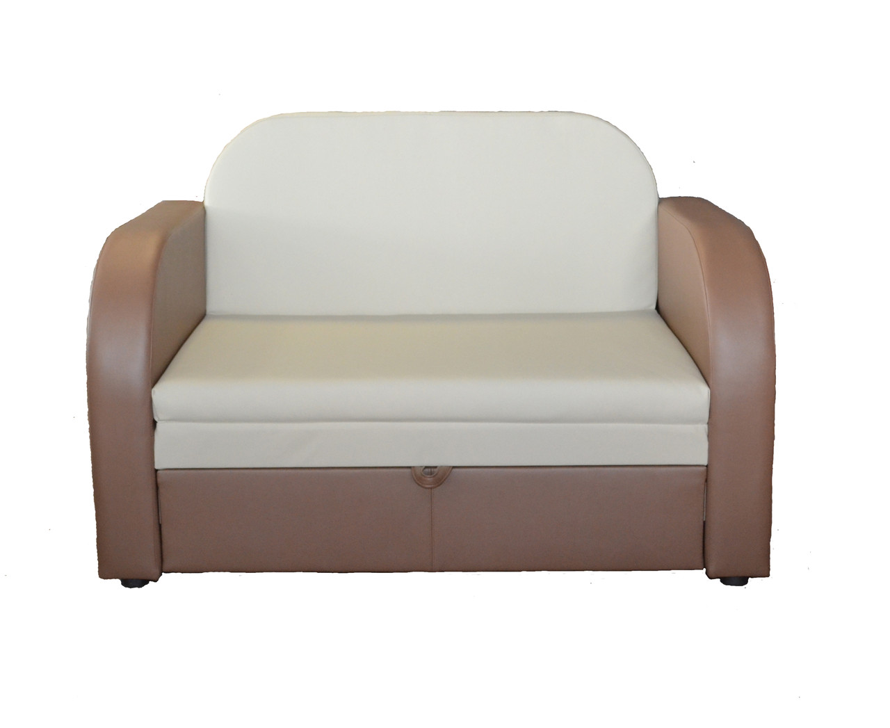 Диван-кровать с коробом для хранения Трио в кожзаме