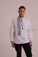 Заготовка чоловічої сорочки для вишивки нитками бісером БС-110ч  бежево-сірий f7af8f2087e9c