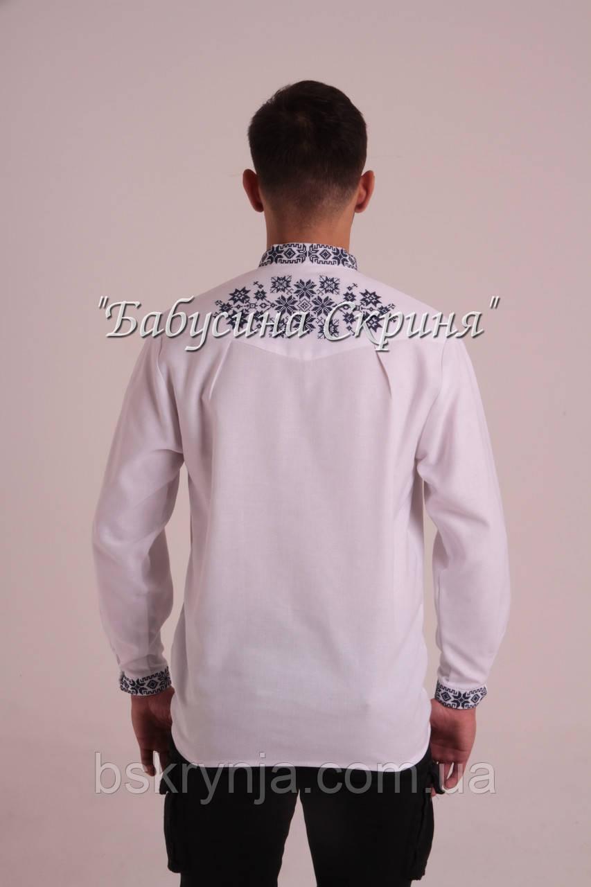 Заготовка чоловічої сорочки для вишивки нитками бісером БС-110ч ... be1465a18a18e