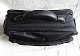 Мужская сумка полукаркасная элегантная папка на плечо портфель в2513 черная жатка 35х27х15см, фото 5